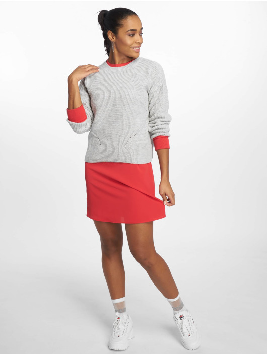 Pieces Swetry pcMarie Knit szary