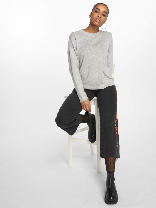 Pieces Swetry pcLisa Knit szary