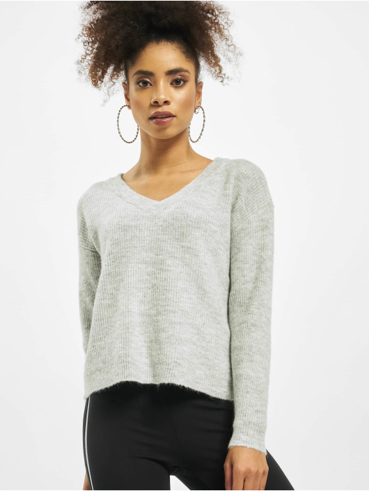 Pieces Swetry cElla Noos Knit szary