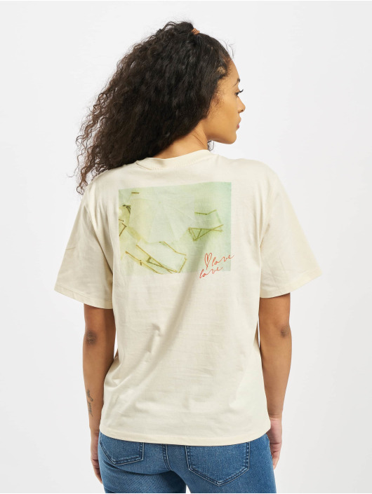Pieces T-Shirt pcMikani Print beige