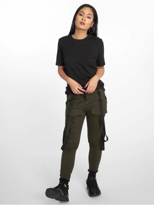 Pieces T-Shirt pcRia Fold Up black