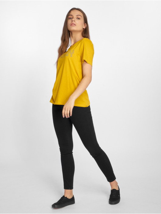 Pieces t-shirt pcFemme geel