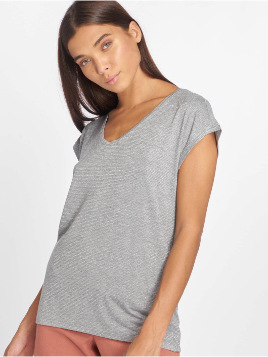Pieces T-Shirt pcBillo Lurex Stripes gris