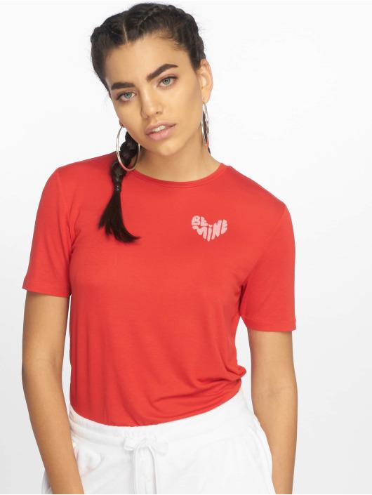 Pieces T-shirt pcBroklyn röd