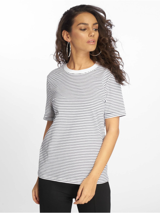 Pieces T-Shirt pcRia Fold Up weiß