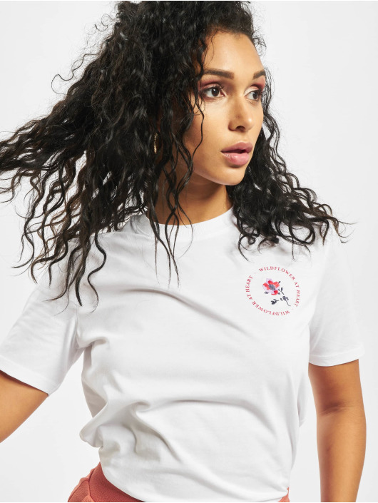 Pieces T-Shirt pcBeckett weiß