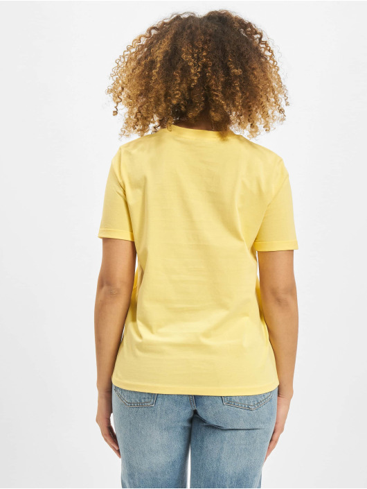 Pieces T-Shirt pcRia Fold Up Solid yellow