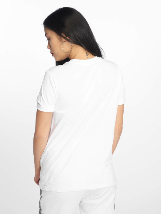 Pieces T-Shirty pcRia Fold Up Solid bialy