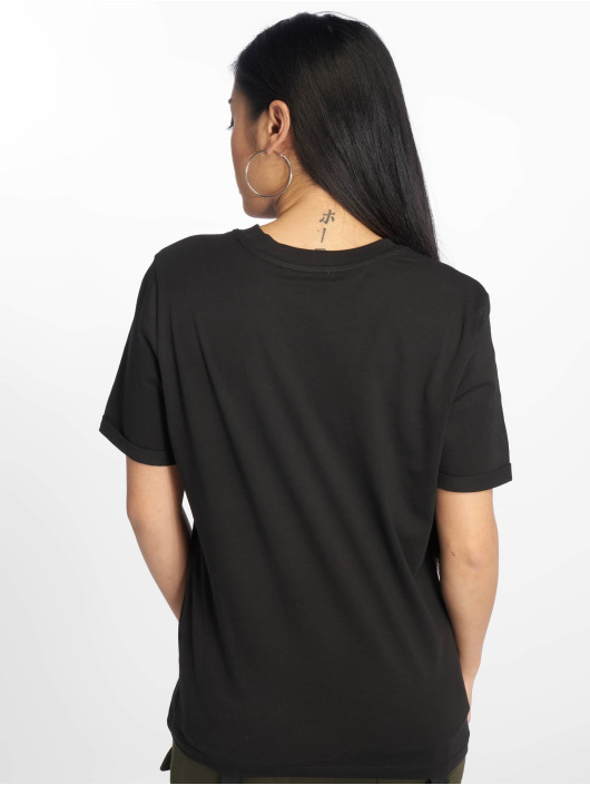 Pieces T-Shirty pcRia Fold Up czarny