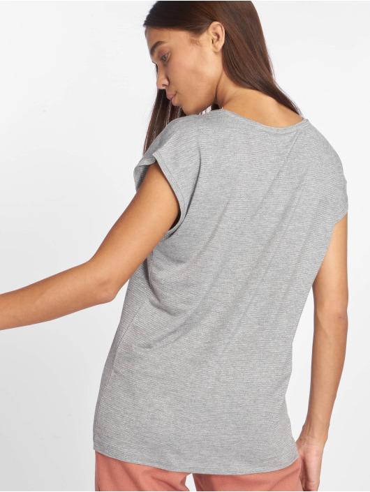 Pieces T-Shirty pcBillo Lurex Stripes szary