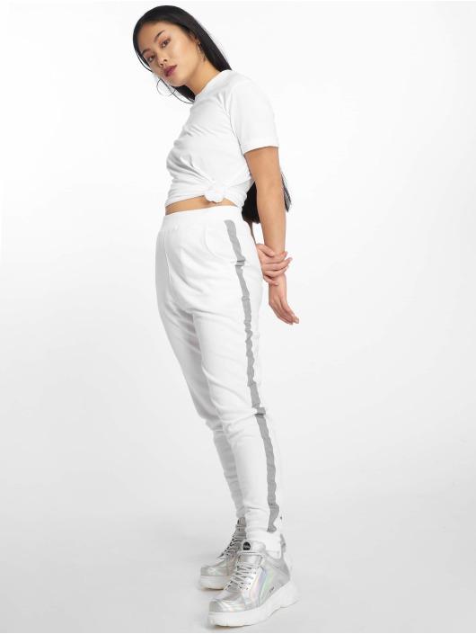 Pieces T-skjorter pcRia Fold Up Solid hvit