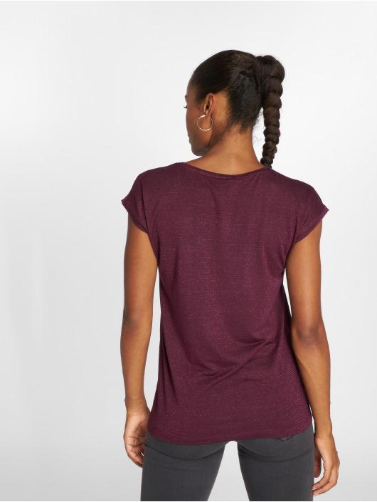 Pieces T-skjorter pcBillo Lurex Stripes red