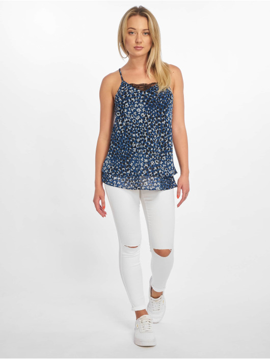 Pieces Top pcElisa Sl Printed blau