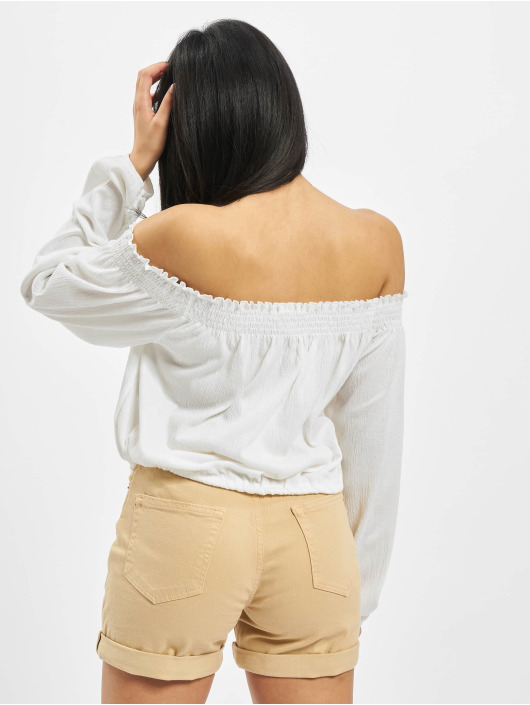 Pieces Top pcAnnie Off-Shoulder white