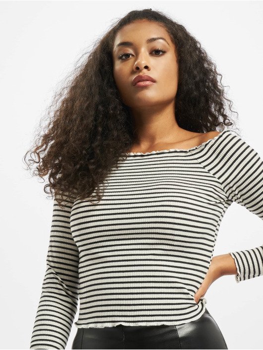 Pieces Tops pcAlicia Off-Shoulder bialy