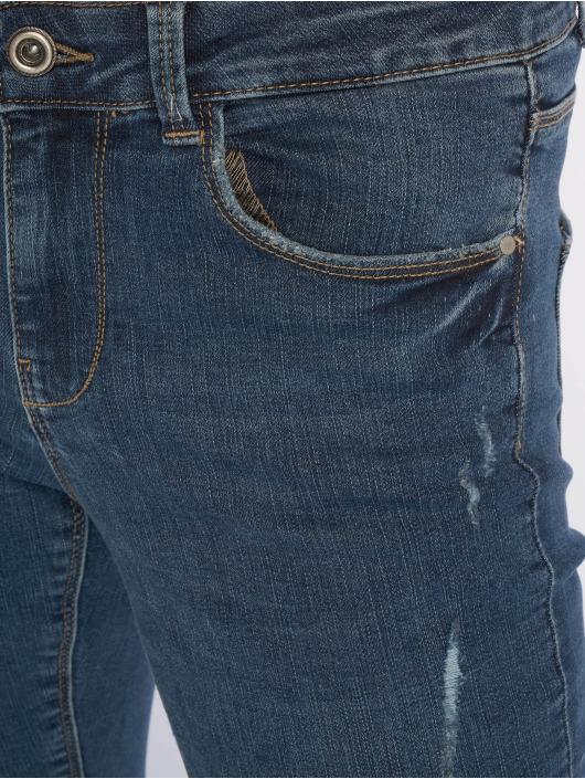 Pieces Tynne bukser pcBree Destroyed blå