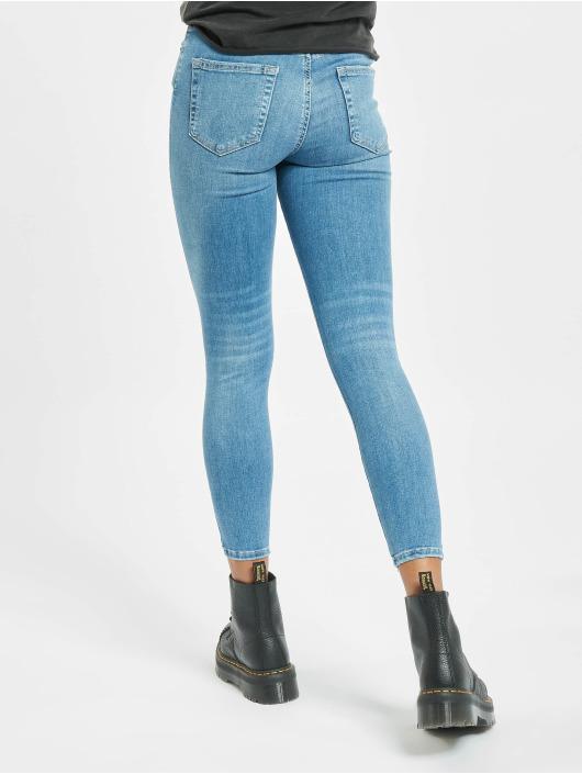 Pieces Tynne bukser pcDelly Medium Waist Noos blå