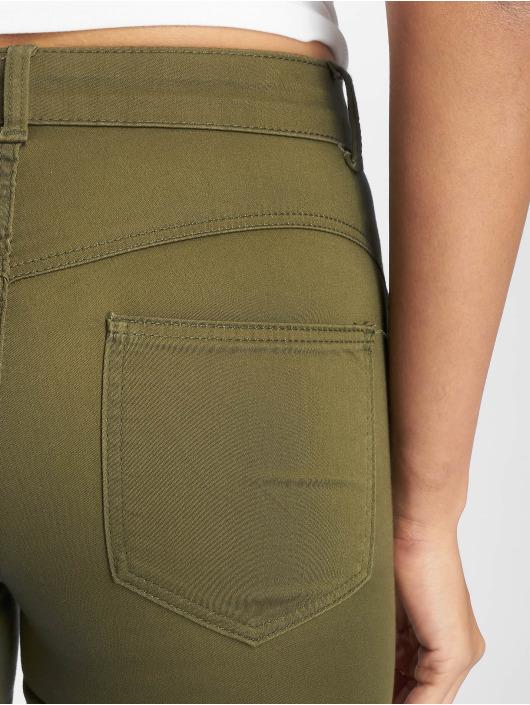 Pieces Tynne bukser pcSage Shape Up Ultra Mid Waist oliven