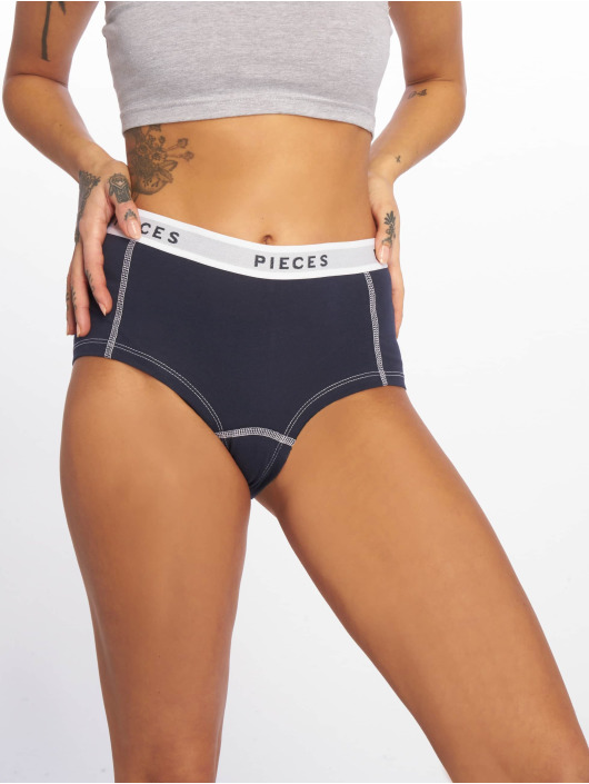 Pieces Underwear pcLogo Flower blå