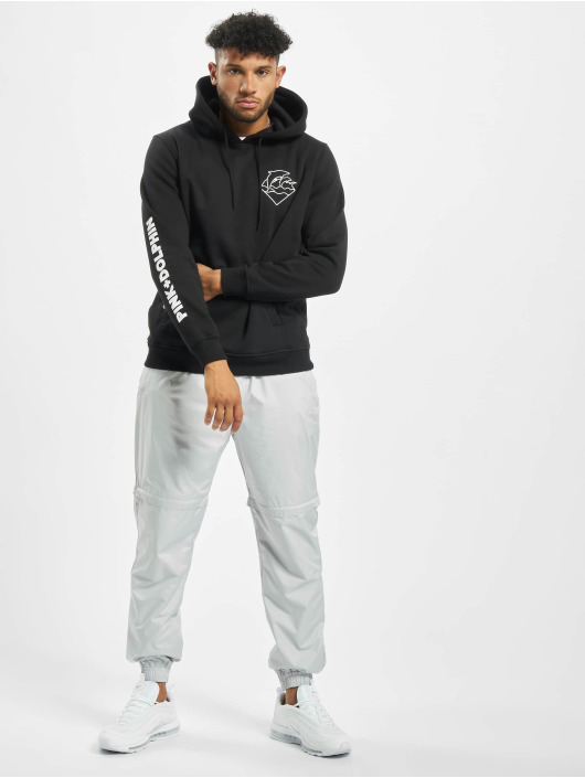 Pink Dolphin Hoodie Colorless Logo black