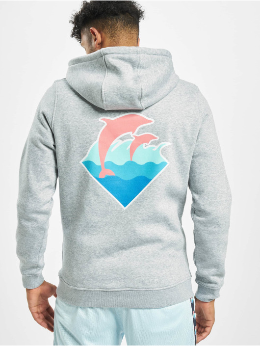 Pink Dolphin Hoodies Logo šedá
