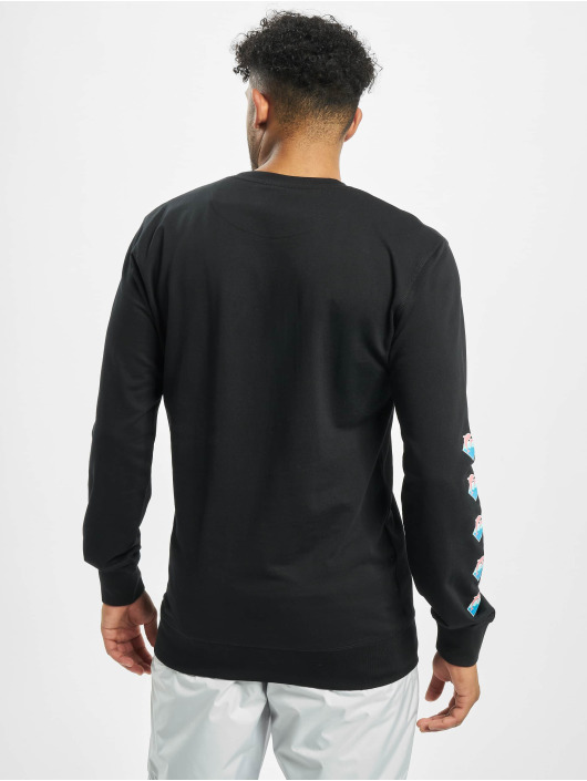 Pink Dolphin Pullover Logo black