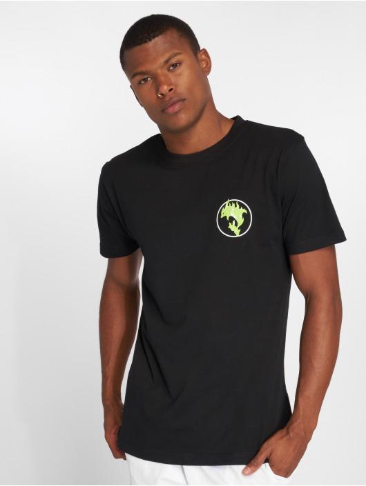 Pink Dolphin T-Shirt Aqua Flame black