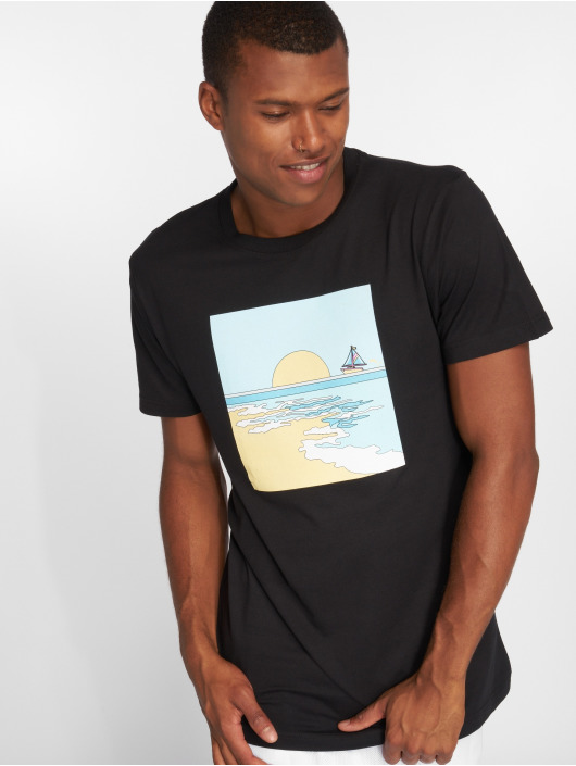 Pink Dolphin T-Shirt Horizon black