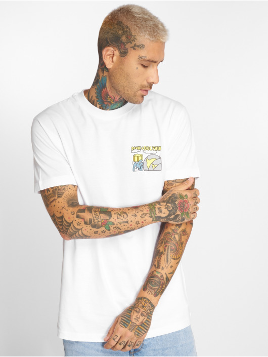 Pink Dolphin T-Shirt Level Up blanc
