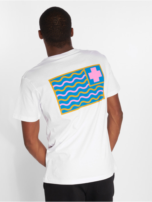 Pink Dolphin T-Shirt Dolphin Pocket P blanc