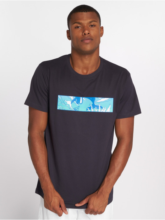 Pink Dolphin T-Shirt Letterbox blau