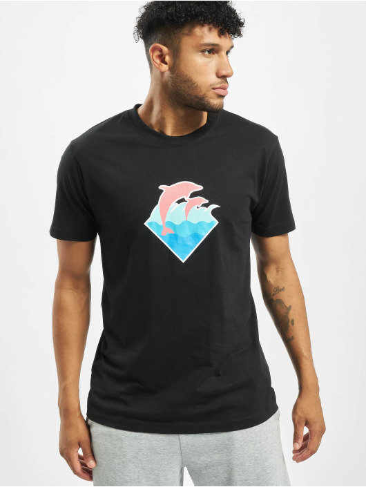 Pink Dolphin T-shirt Logo nero