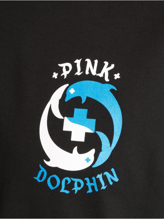 Pink Dolphin T-Shirt Ying Yang noir
