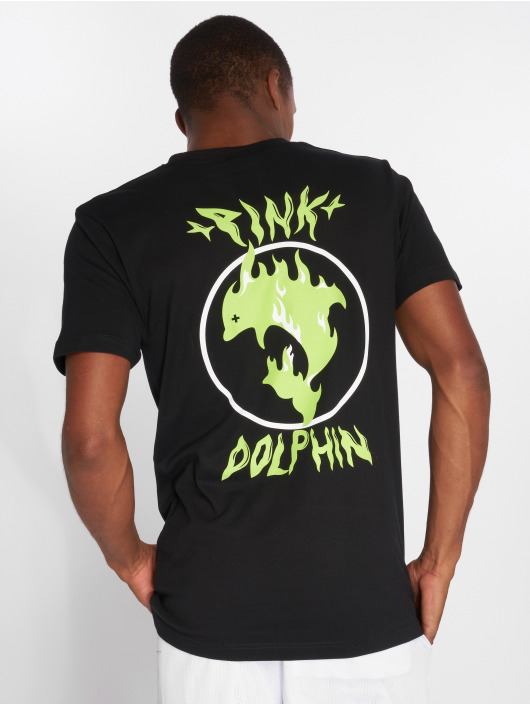 Pink Dolphin T-Shirt Aqua Flame noir