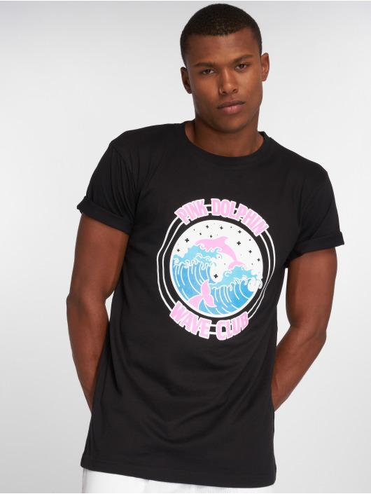Pink Dolphin T-Shirt Club Crest noir