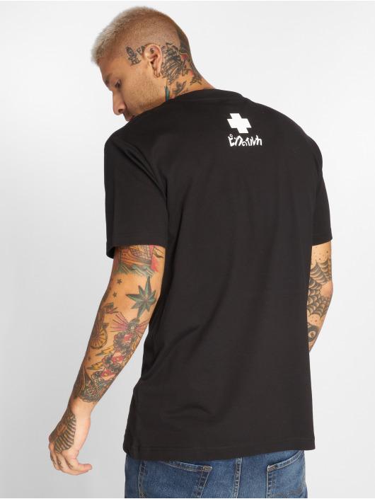 Pink Dolphin T-Shirt Plumage schwarz
