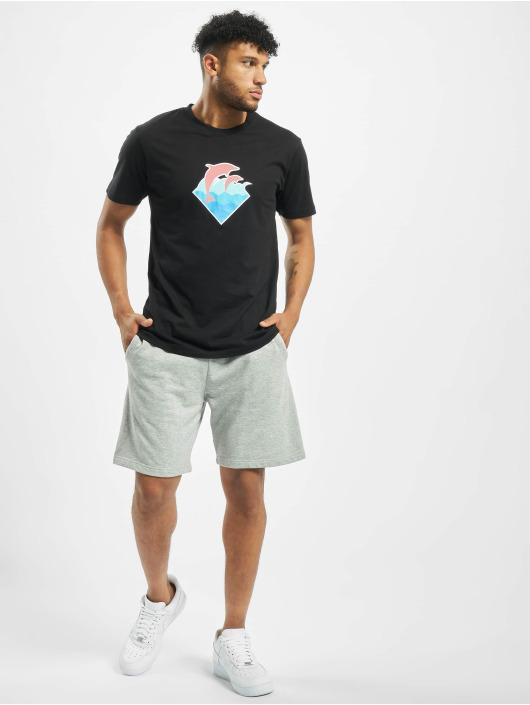 Pink Dolphin T-shirt Logo svart