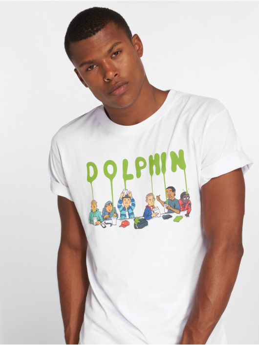Pink Dolphin T-Shirt Supper weiß
