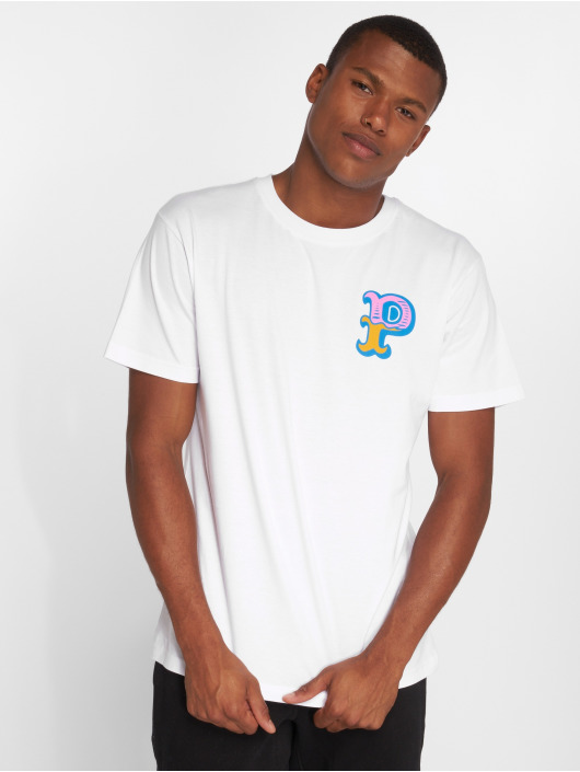Pink Dolphin T-Shirt Dolphin Pocket P weiß