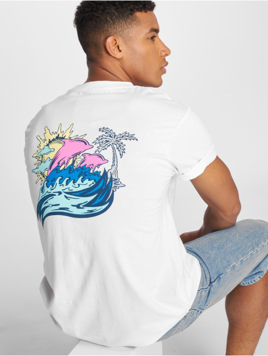 Pink Dolphin T-Shirt Roll Tide white