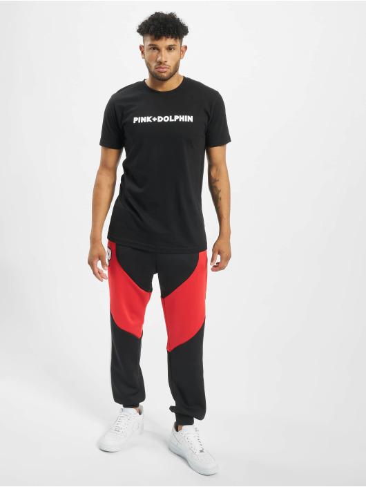 Pink Dolphin t-shirt Colorless Logo zwart