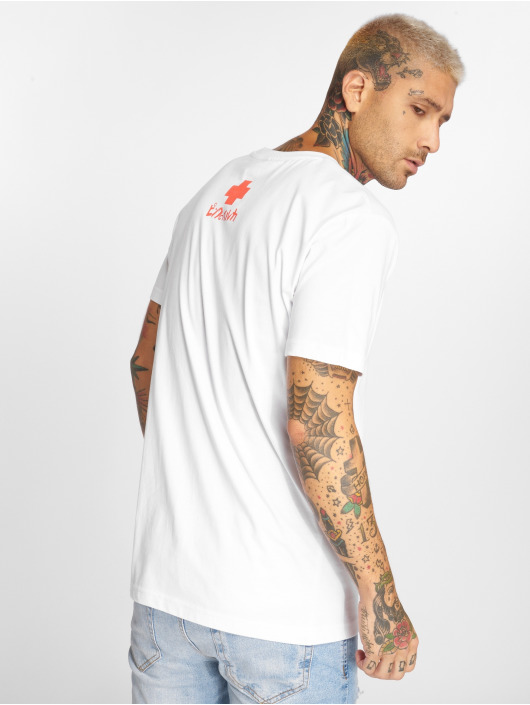 Pink Dolphin T-Shirty Summer Waves bialy
