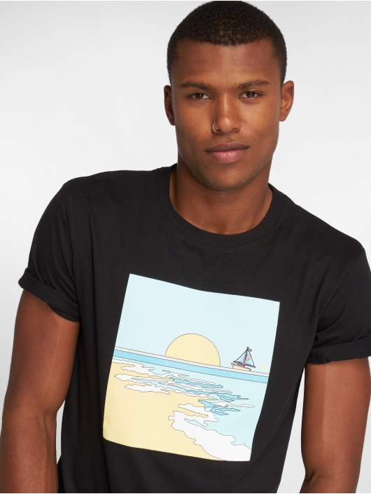 Pink Dolphin T-Shirty Horizon czarny