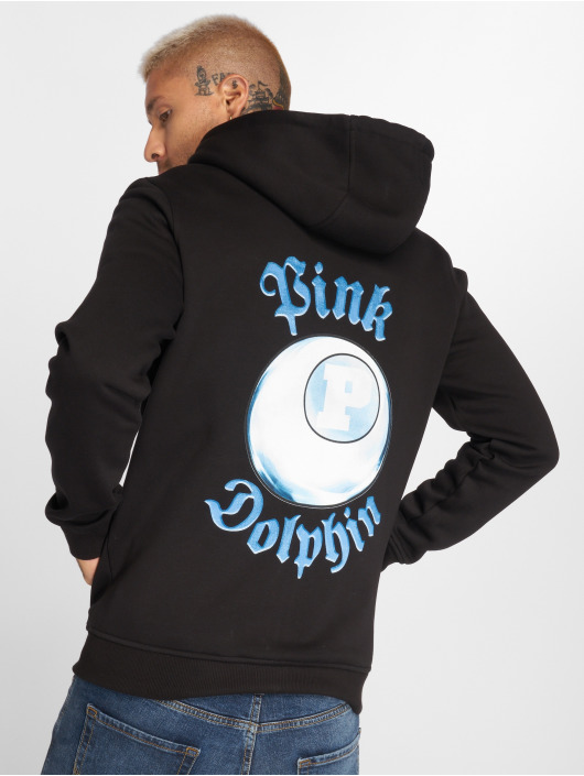 Pink Dolphin Zip Hoodie 8-Ball Reflection schwarz