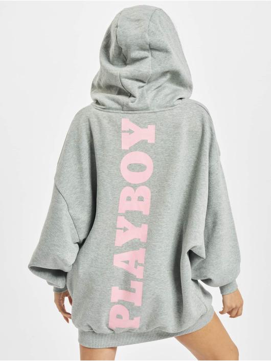 Playboy x DEF Šaty Hoodie šedá