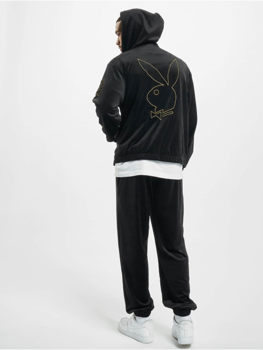 Playboy x DEF Anzug Velvet schwarz