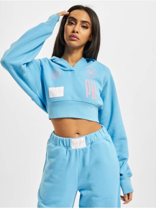 Playboy x DEF Hoodie Pockets blue