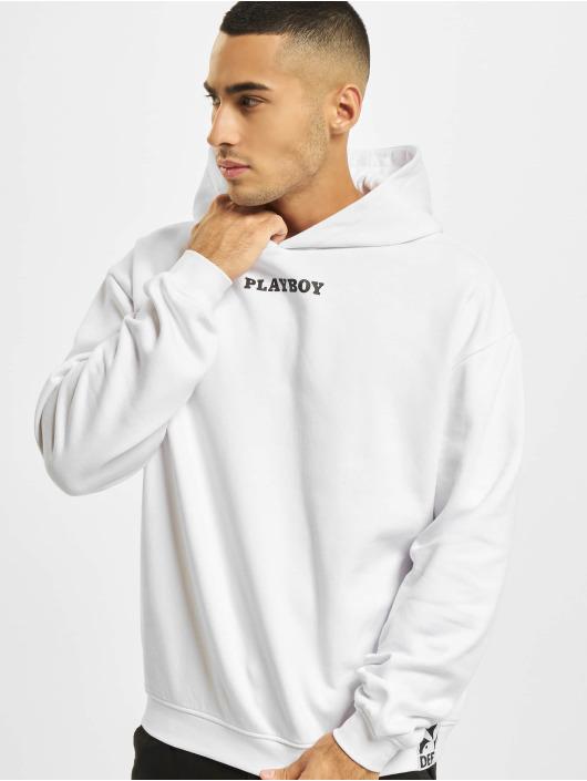 Playboy x DEF Mikiny Logo biela