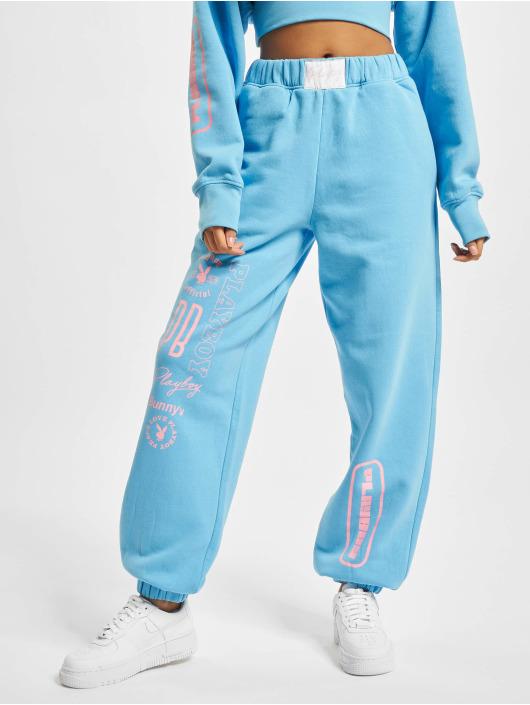 Playboy x DEF Spodnie do joggingu Pockets niebieski