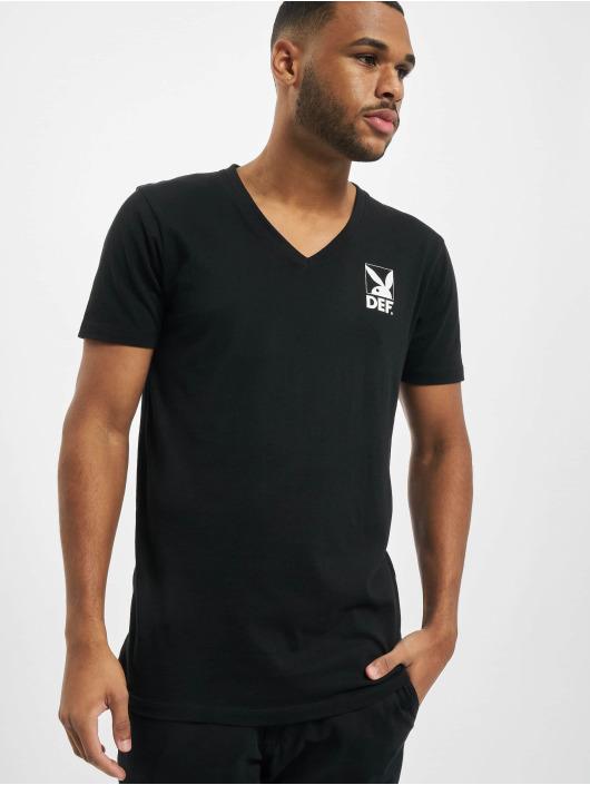 Playboy x DEF T-Shirt V-Neck black